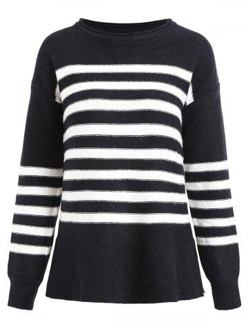 Pullover Striped Knitted Sweater