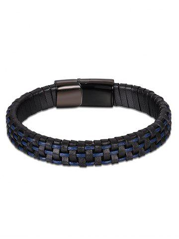 Bracelet Faux Leather Cool Bleu