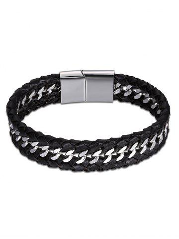 Bracelet Braid Cool Faux Leather