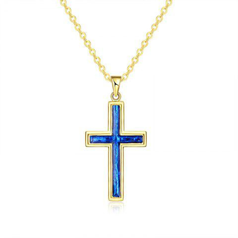 Collier en acrylique Insert Cross Pendant
