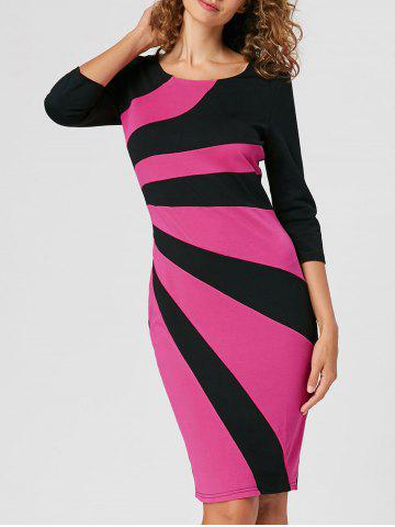 Unique Work Color Block Bodycon Dress