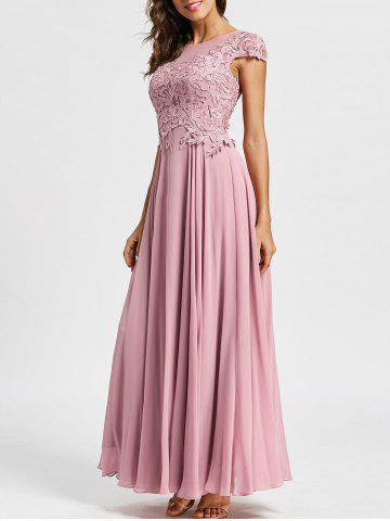 Latest Floral Applique Formal Maxi Prom Evening Dress