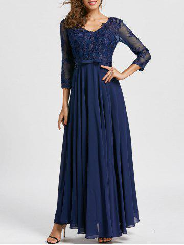 Buy Maxi Bowknot V Neck Evening Dress