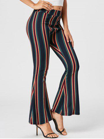 New Vertical Striped Flare Pants - M COLORMIX Mobile