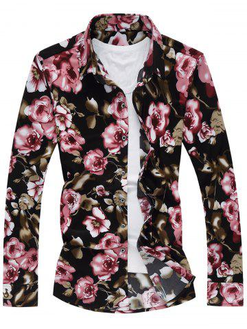 Buy Plus Size Long Sleeve Floral Shirt