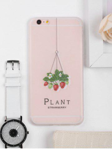 Strawberry Pattern Protective Phone Case For Iphone - CLEAR WHITE - FOR IPHONE 6 PLUS / 6S PLUS