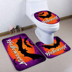 Ensemble matelas de toilette Bath Bath 3PCS Flambe Halloween -