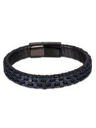 Bracelet Faux Leather Cool - Bleu
