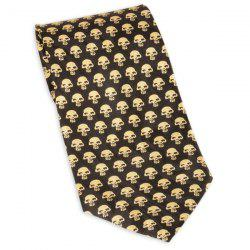 Full Skull Print 10CM Largeur Cravate - Jaune