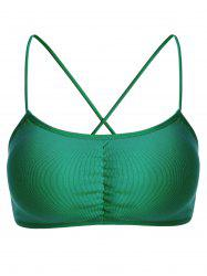 Strappy Cross Back Bra - GREEN ONE SIZE