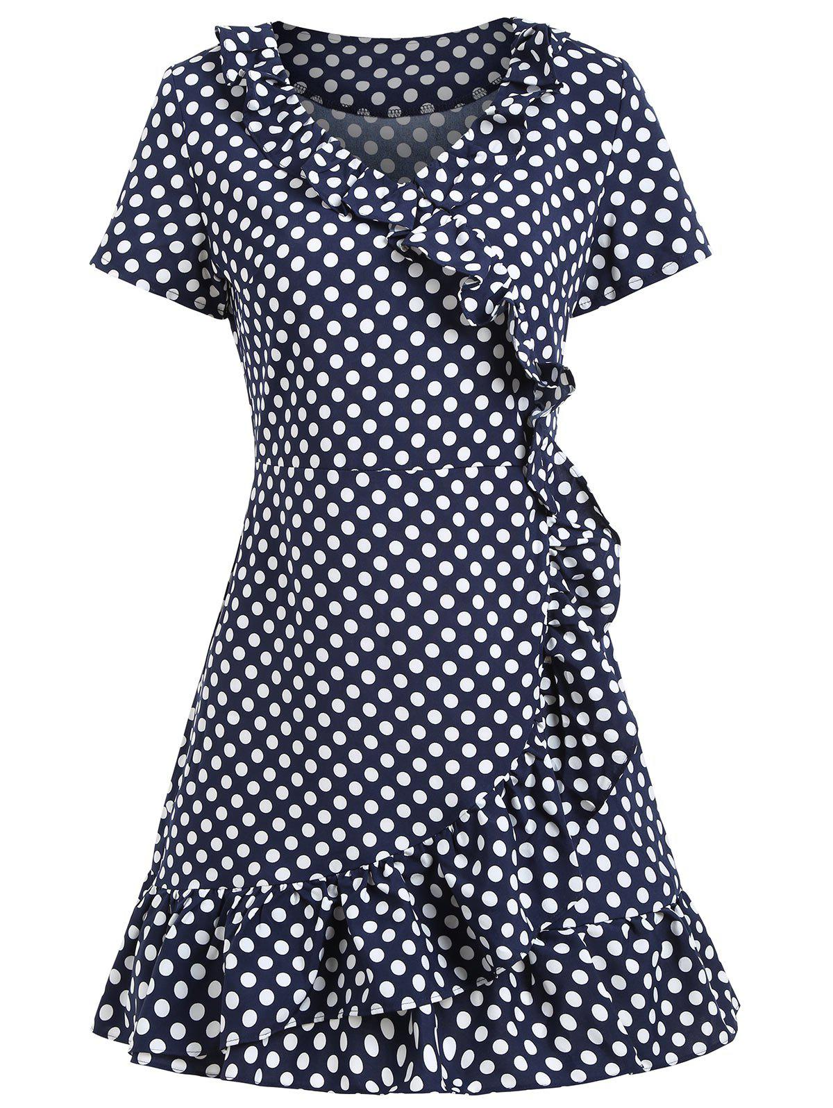 Outfits Polka Dot Ruffles Short Dress