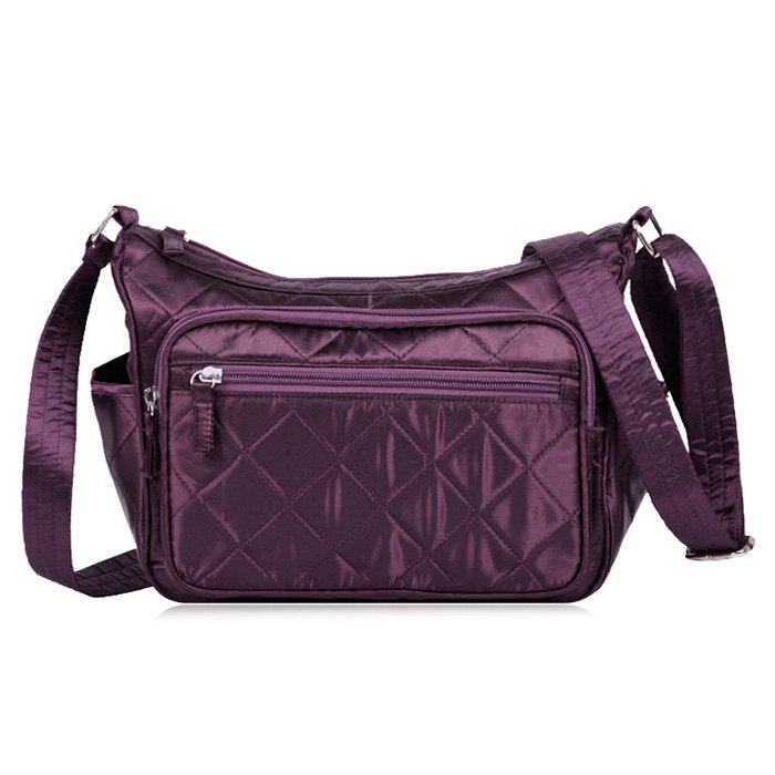 9640e6b1ca 2018 Zippers Double Pocket Crossbody Bag In Deep Purple