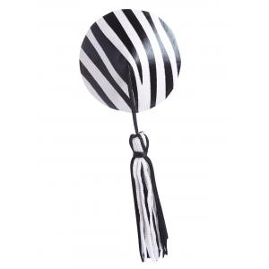 Tassel Striped Nipple Cover - Noir TAILLE MOYENNE