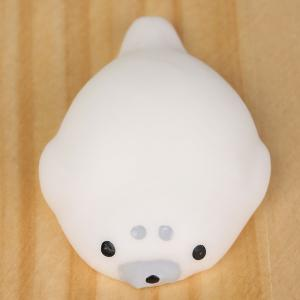 3Pcs Seal Shaped Stress Relief Squeeze Squishy Toys - WHITE
