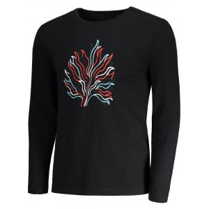 Abstract Pattern Embroidered Sweater - BLACK M