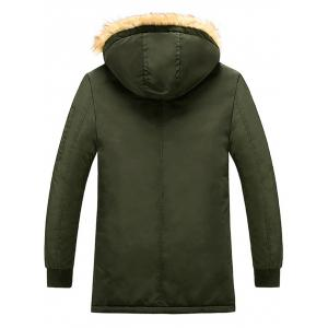Patch Design Detachable Hood Zip Up Coat -