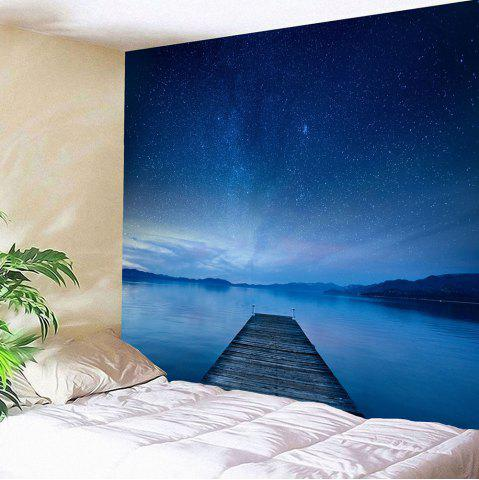 Outfits Galaxy Bridge Printed Waterproof Wall Art Tapestry - W79 INCH * L71 INCH BLUE Mobile