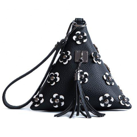 Store Tassels Triangle Shape Flowers Clutch Bag