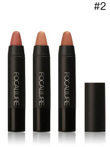 Unique 3 Colors FOCALLURE Matte Lasting Lipstick Pen One Set - #02  Mobile