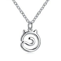 Simple Cat Alloy Necklace -
