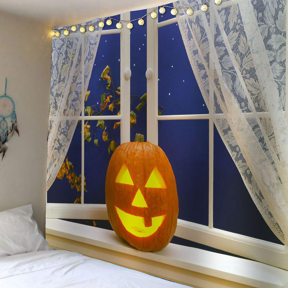 Jaune largeur 59pouces longeur 51pouces fen tre de for Decoration murale halloween