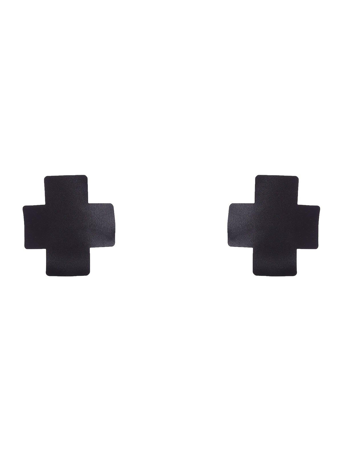 Cross Adhesive Nipple StickerWOMEN<br><br>Size: ONE SIZE; Color: BLACK; Intimates Accessories Type: Breast Petal; Material: Polyester; Weight: 0.0900kg; Package Contents: 1 x Nipple Sticker;