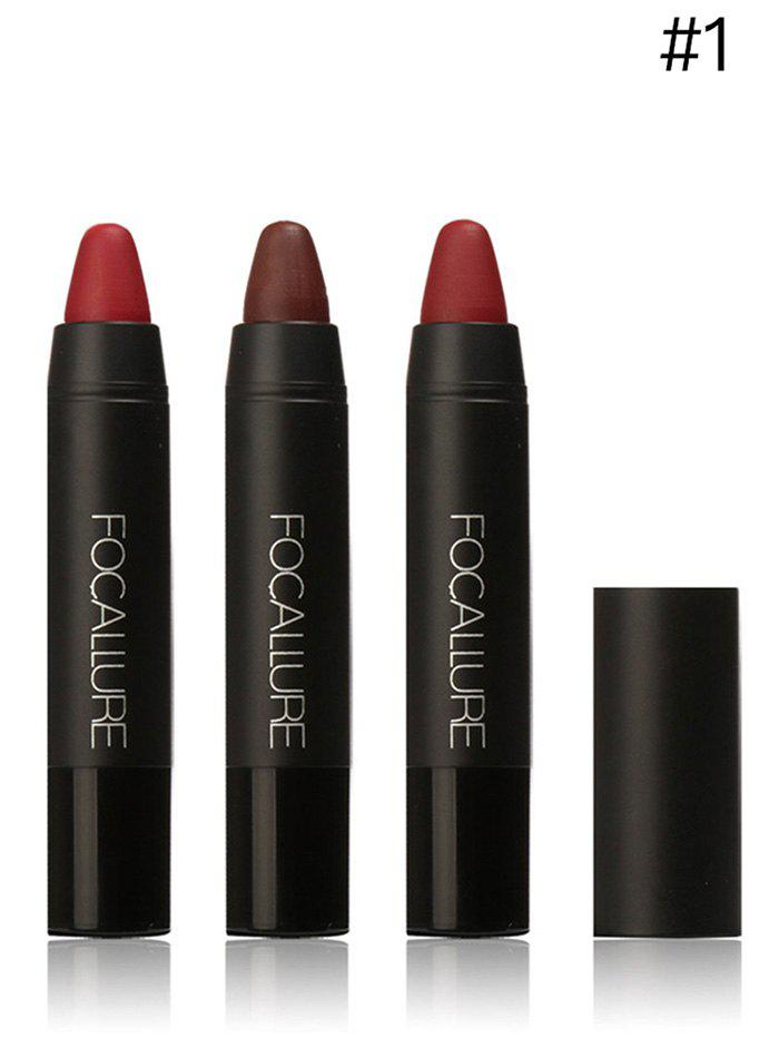 3 Colors FOCALLURE Matte Lasting Lipstick Pen One SetBEAUTY<br><br>Color: #01; Brand: FOCALLURE; Category: Lipstick; Type: Other; Features: Eco-friendly; Season: Fall,Spring,Summer,Winter; Weight: 0.1000kg; Package Contents: 1 x Lipstick Pen;