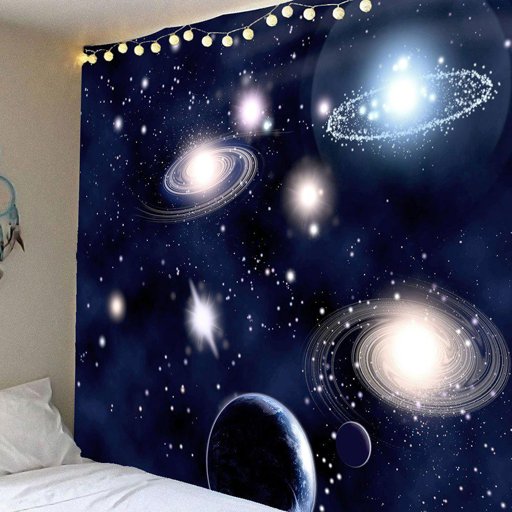 Galaxy Planet Pattern Waterproof Wall Art TapestryHOME<br><br>Size: W59 INCH * L51 INCH; Color: PURPLISH BLUE; Style: Fashion; Material: Velvet; Feature: Removable,Washable,Waterproof; Shape/Pattern: Star; Weight: 0.2100kg; Package Contents: 1 x Tapestry;