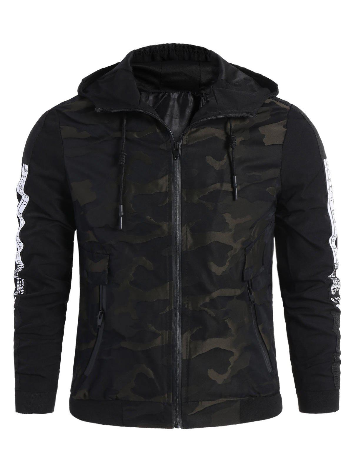 Jacket Letter Camo Hooded Best Side TgI8aqax