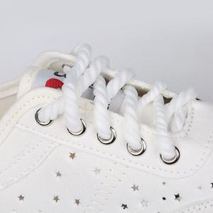 Lace Up Hollow Out Chaussures de toile - Blanc 39