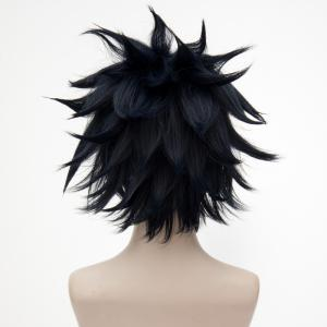 Short Fluffy Straight Tail vers le haut AUTO Leishi Cosplay Anime Wigs -