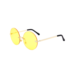 Rounded Jelly Lens Rimless Lunettes de soleil -