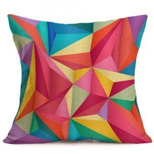 Geometric Printed Linen Throw Pillow Case -