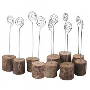 10 Pcs Wood Table Card Number Holders -