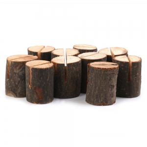 10 Pcs Wooden Table Number Holders -