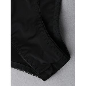 Culotte d'insertion en dentelle - Noir S