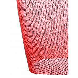 See Through Fishnet Bodycon Dress - Rouge TAILLE MOYENNE