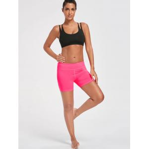 Gym Stretch Tight Shorts with Pocket - BRIGHT PINK S