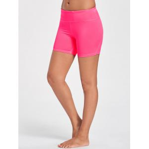 Gym Stretch Tight Shorts with Pocket -