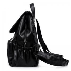 Braid PU Leather Backpack -