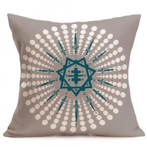 Polka Dot Clock Face Printed Pillow Case - GRAY W18 INCH * L18 INCH