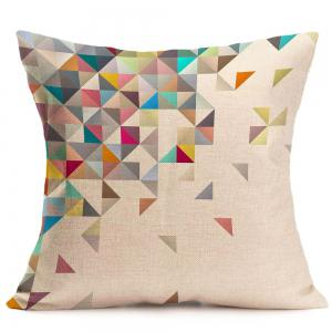 Home Decor Geometric Printed Linen Pillow Case - COLORFUL W18 INCH * L18 INCH