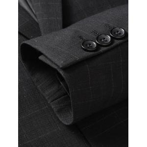 Flap Pocket Single Breasted Heathered Blazer - Noir XL