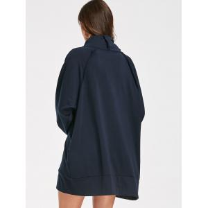 Casual Mock Neck Robe manches longues -