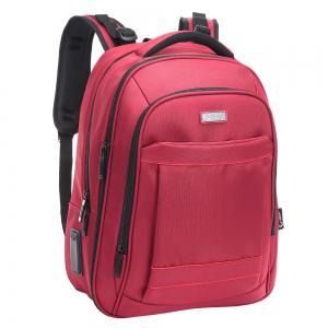 Mesh Panel Multifunctional Laptop Backpack - RED VERTICAL