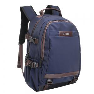 Contrast Color Top Handle Laptop Backpack - BLUE VERTICAL