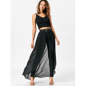 Slimming High Waist Skirted Pants -