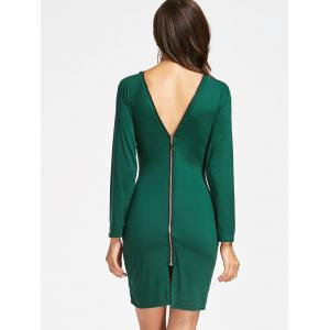 Full Zip Long Sleeve Pencil Dress -