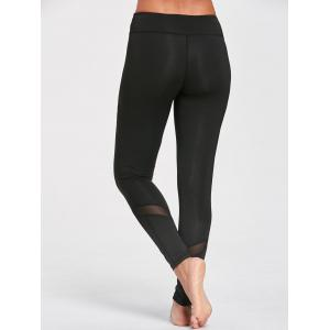 Sports Mesh Panel Leggings -
