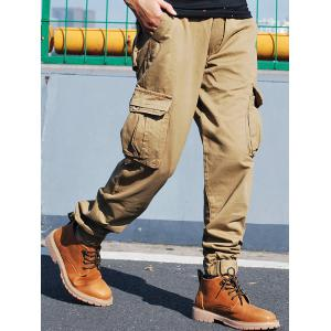 Pockets Zip Fly Beam Feet Cargo Pants -